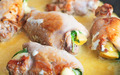 Close-up of Chicken roll with herbs and cheese. - PhotoDune Item for Sale