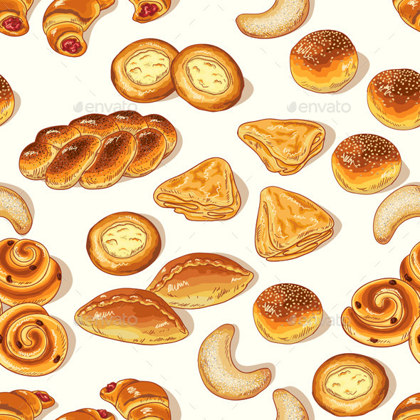 GraphicRiver Bakery Pattern 10945127