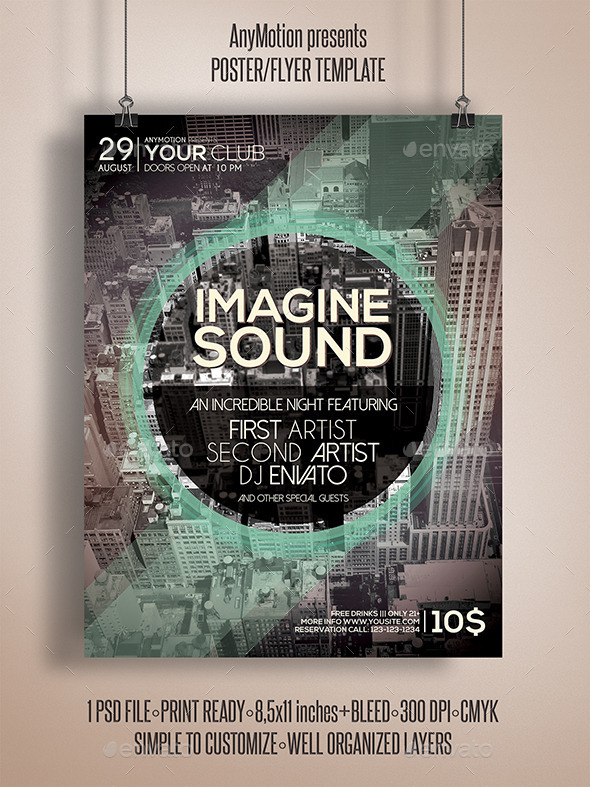 GraphicRiver Imagine Sound Flyer 10904254