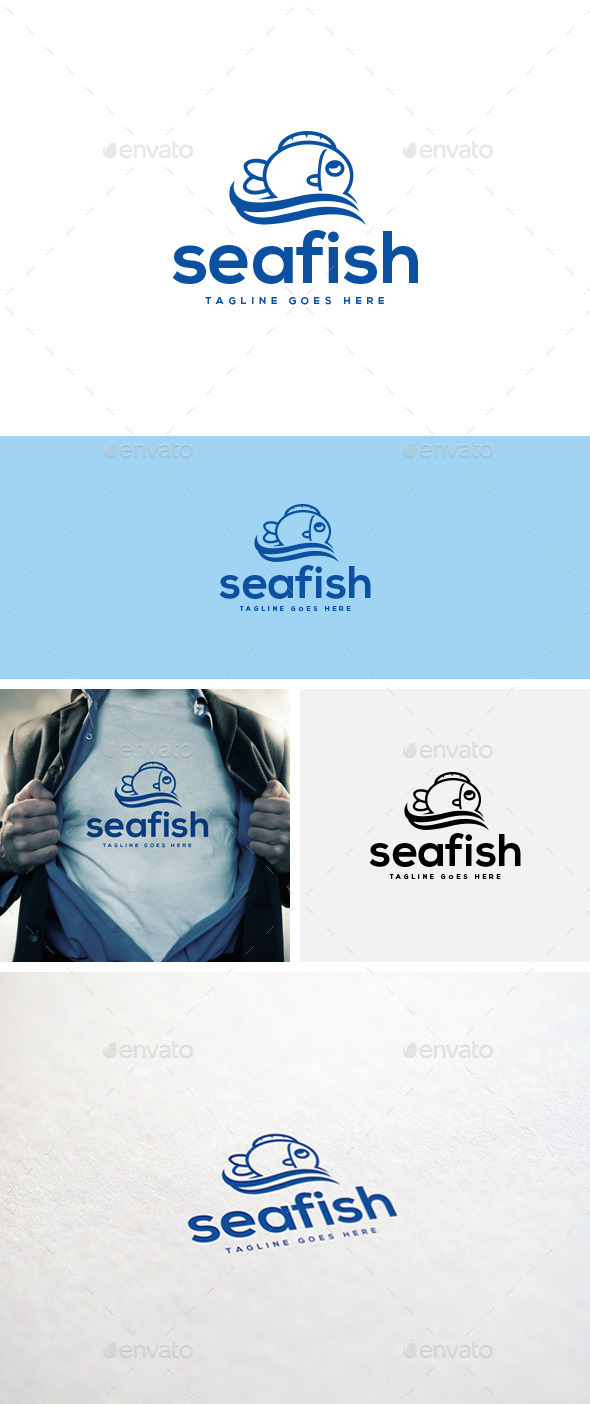 GraphicRiver Sea Fish Logo Template 10945247