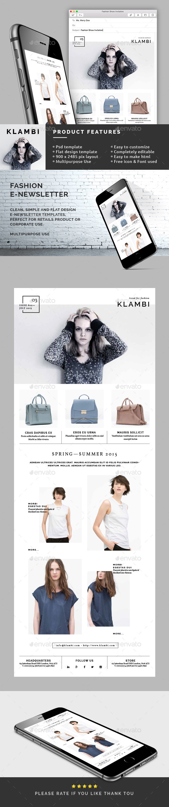 GraphicRiver Fashion E-Newsletter 10945319