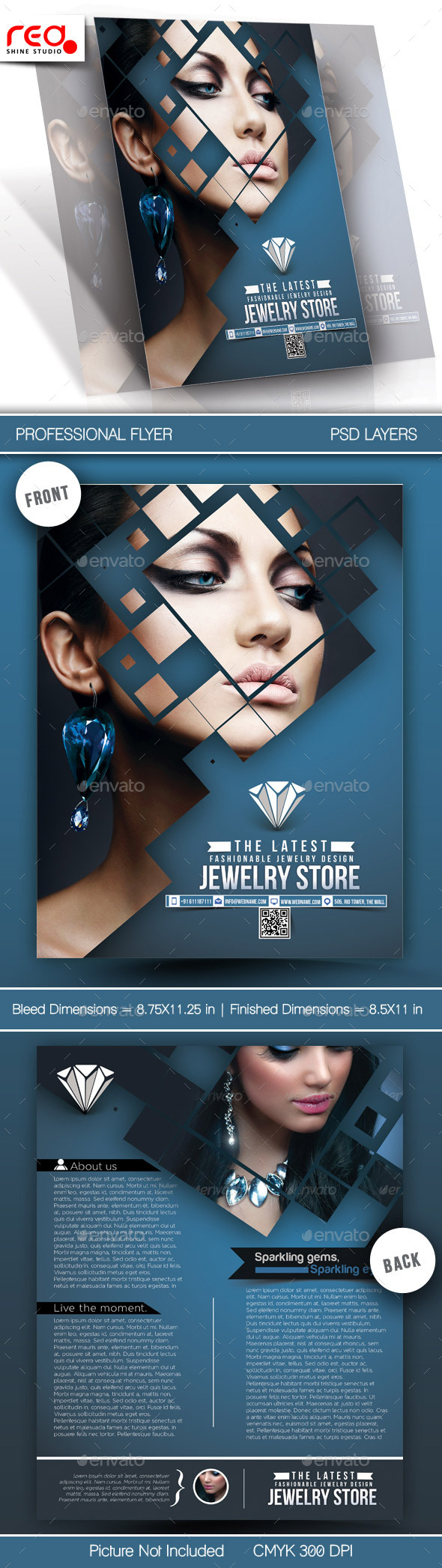 GraphicRiver Jewelry Store Flyer Template 10945321