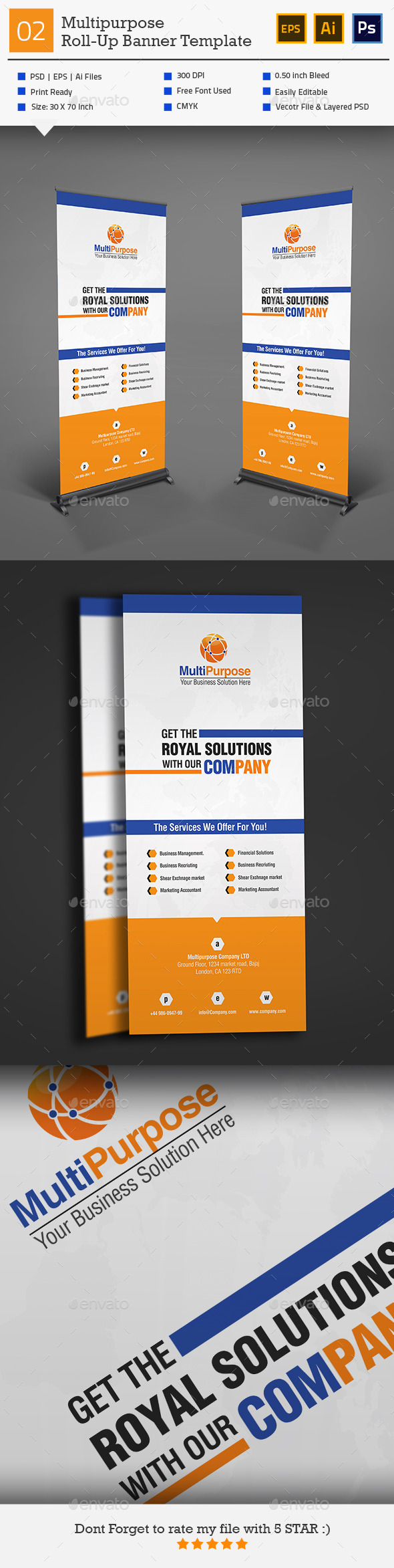 GraphicRiver Roll Up Banner Template 02 10945326
