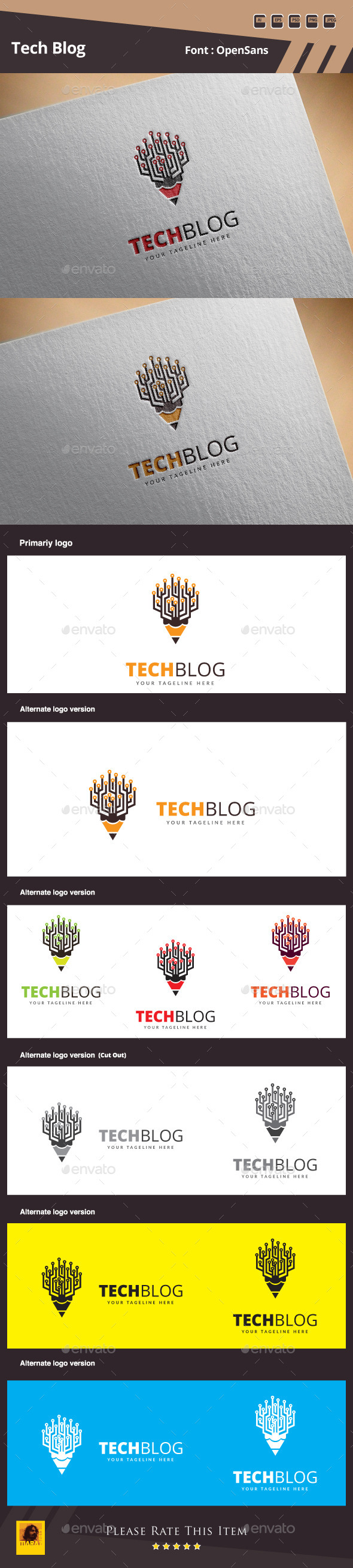 GraphicRiver Tech Blog Logo Template 10945330