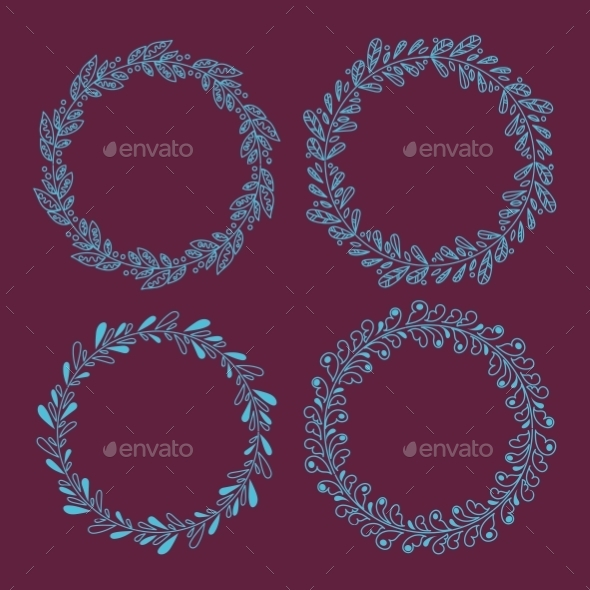 GraphicRiver Wreaths 10945350