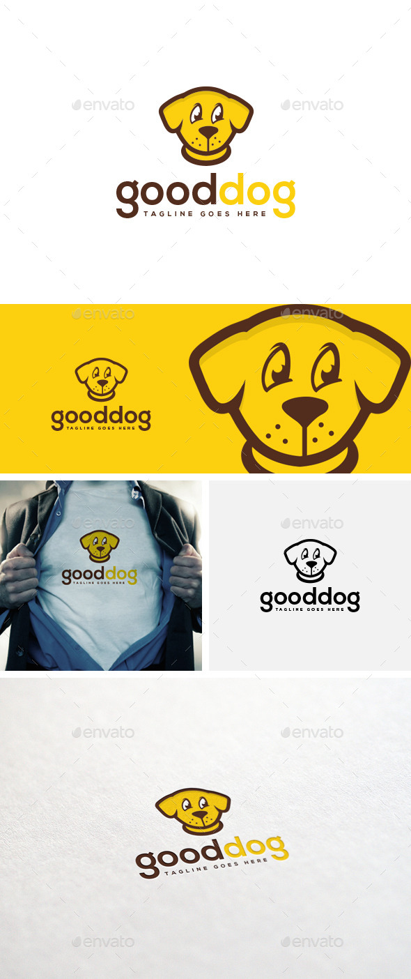 GraphicRiver Good Dog Logo Template 10945354
