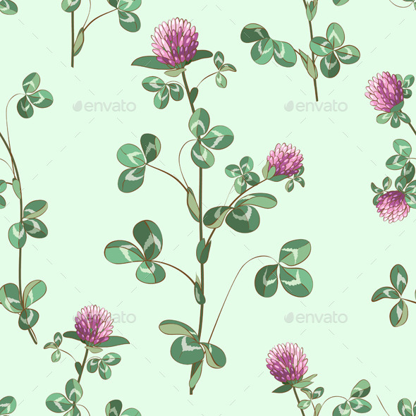 GraphicRiver Clover Flowers Pattern 10945409