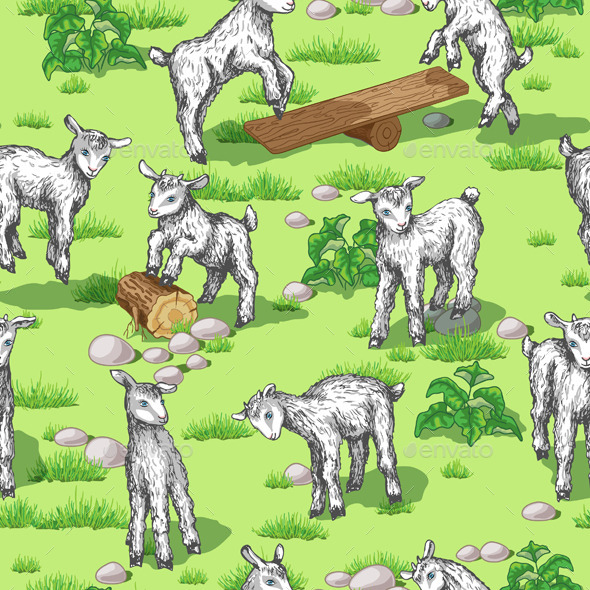 GraphicRiver Goats on Lawn 10945508