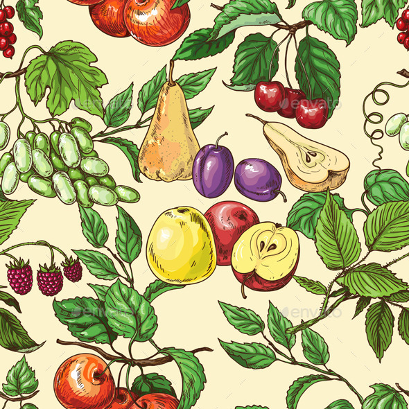 GraphicRiver Fruit Pattern 10945533