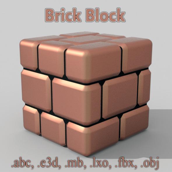 Brick Block - 3DOcean Item for Sale