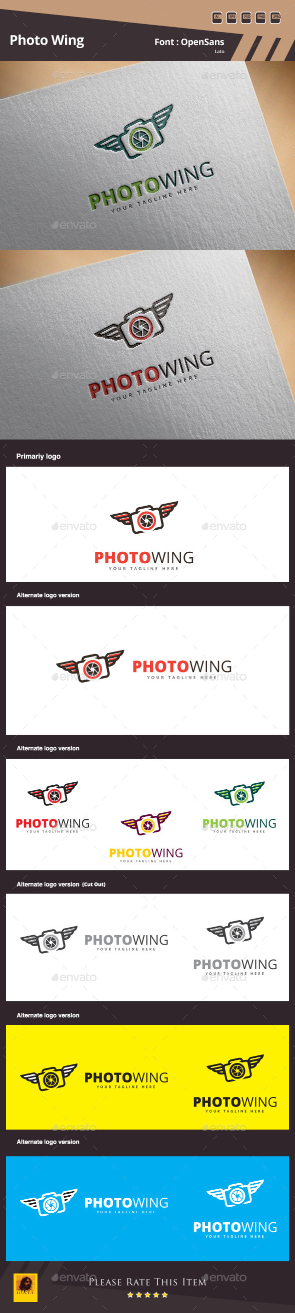 GraphicRiver Photo Wing Logo Template 10945765