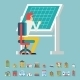 Engineer Planner Projector Designer Working at Table - GraphicRiver Item for Sale