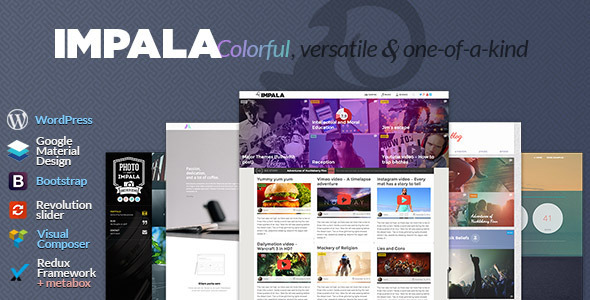 ThemeForest Impala Colorful Versatile and one-of-kind theme 10067090