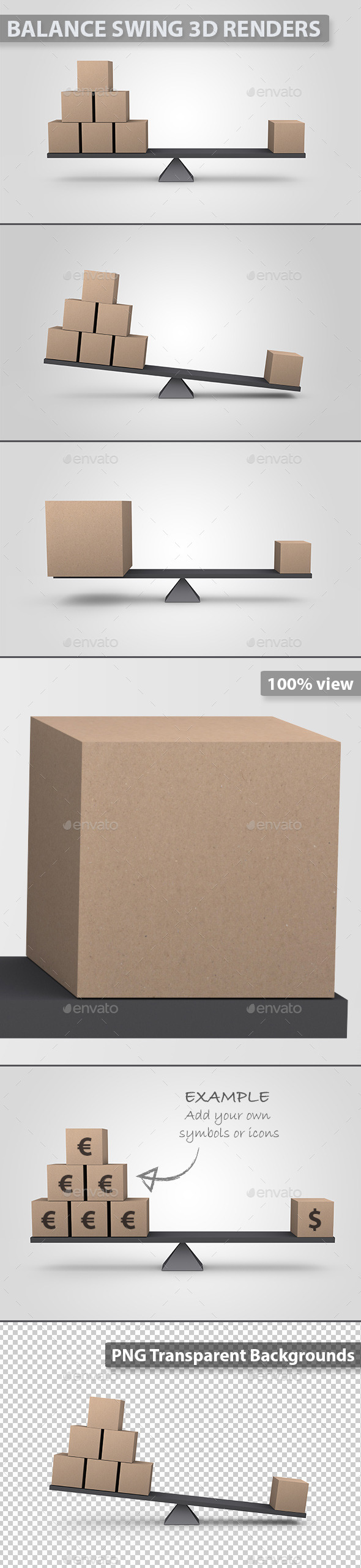 GraphicRiver Balanced 3D Cardboard Boxes 10946112