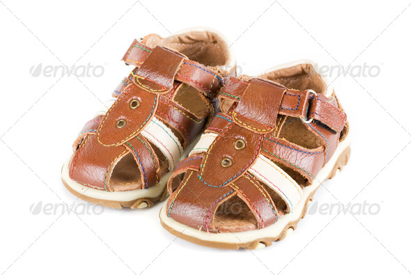 Summer baby shoes - Stock Photo - Images