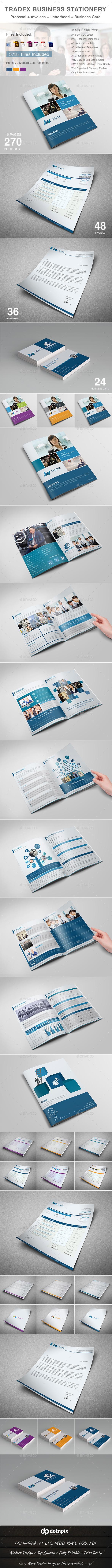 GraphicRiver Tradex Business Stationery 10870621