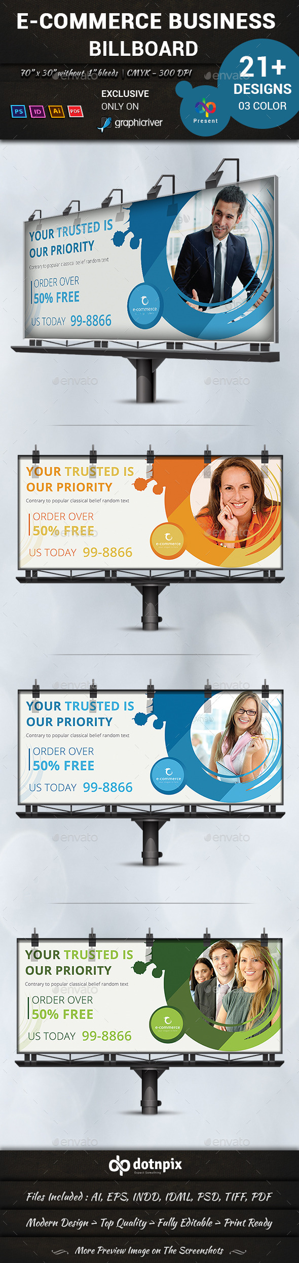 GraphicRiver E-Commerce Business Billboard 10946285
