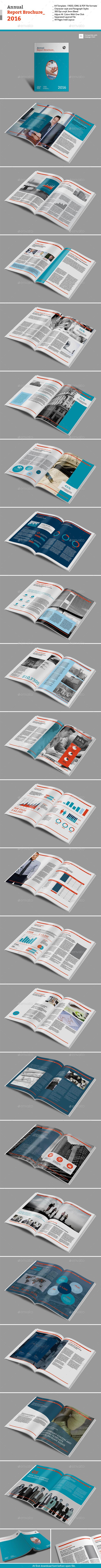 GraphicRiver Annual Report Brochure 2016 10946344