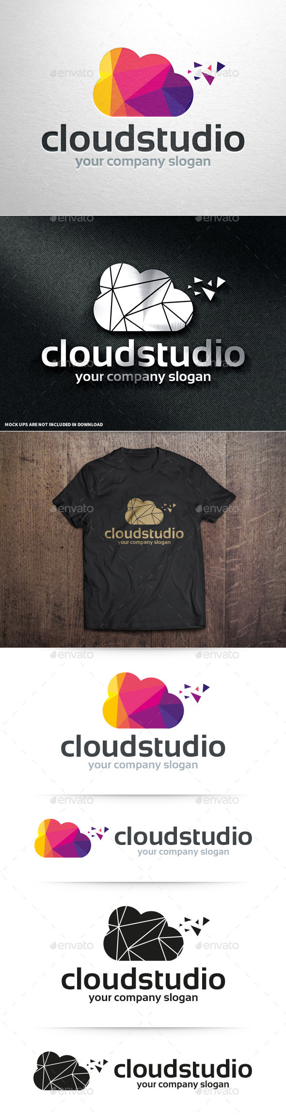 GraphicRiver Cloud Studio Logo Template 10946408