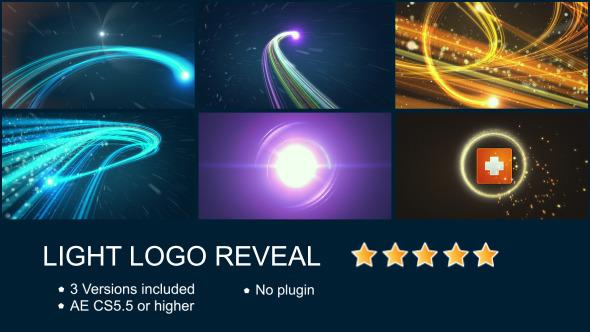 AE模板-美观大气企业公司logo演绎粒子光线模板Light Logo Reveal免费下载