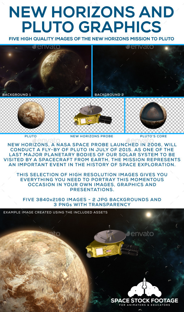 GraphicRiver New Horizons and Pluto Graphics 10946541