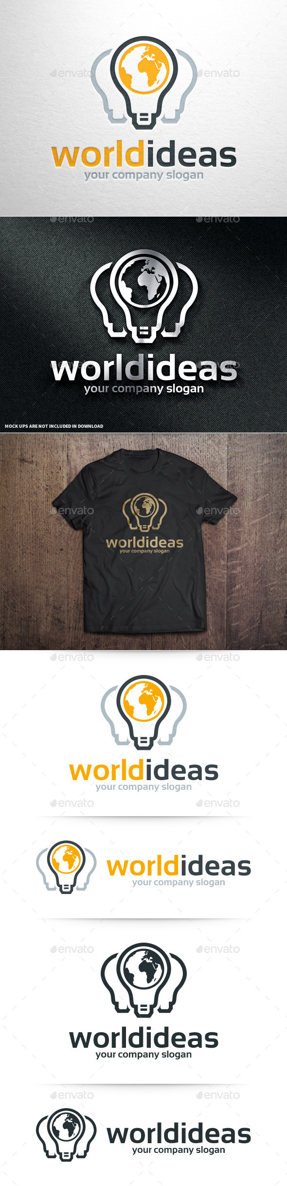 GraphicRiver World Ideas Logo Template 10946979