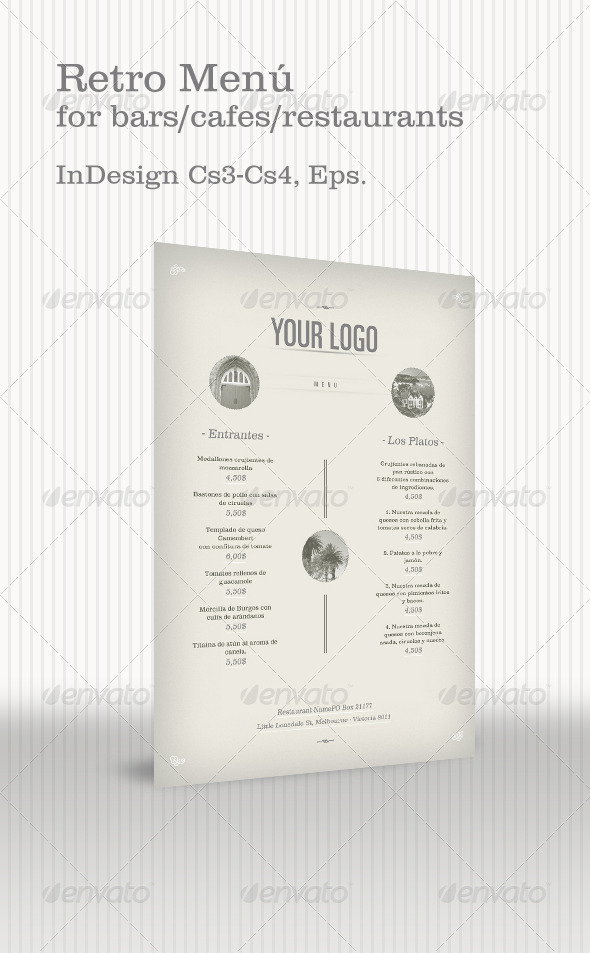 GraphicRiver Retro Menu 135874