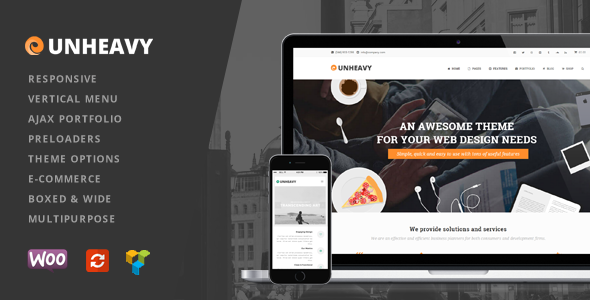 ThemeForest Unheavy Multi-Purpose Responsive WordPress Theme 10826913