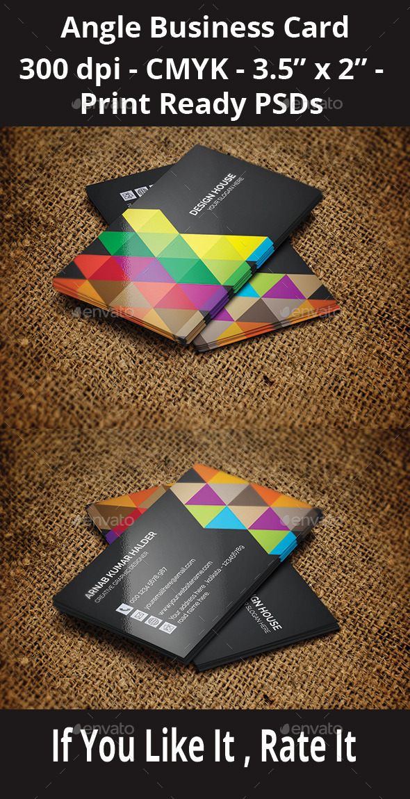 GraphicRiver Angle Business Card 10947129
