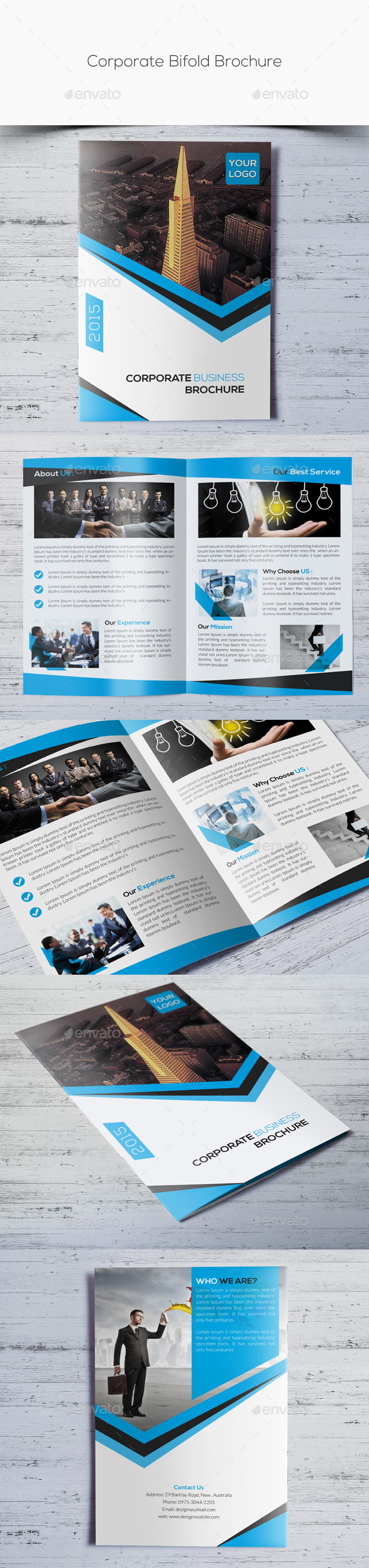 GraphicRiver Corporate Bifold Brochure 10909494