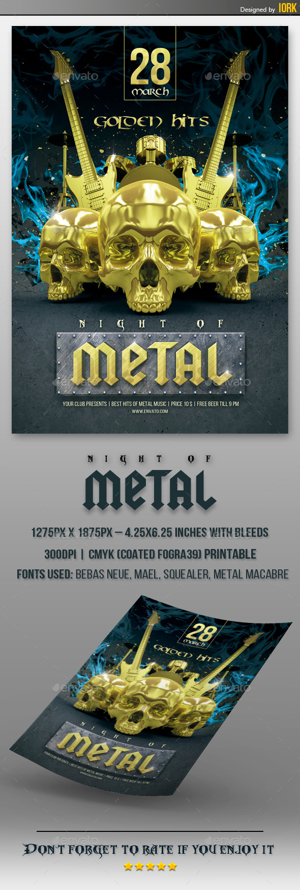 GraphicRiver Gold Metal Hits flyer 10947216