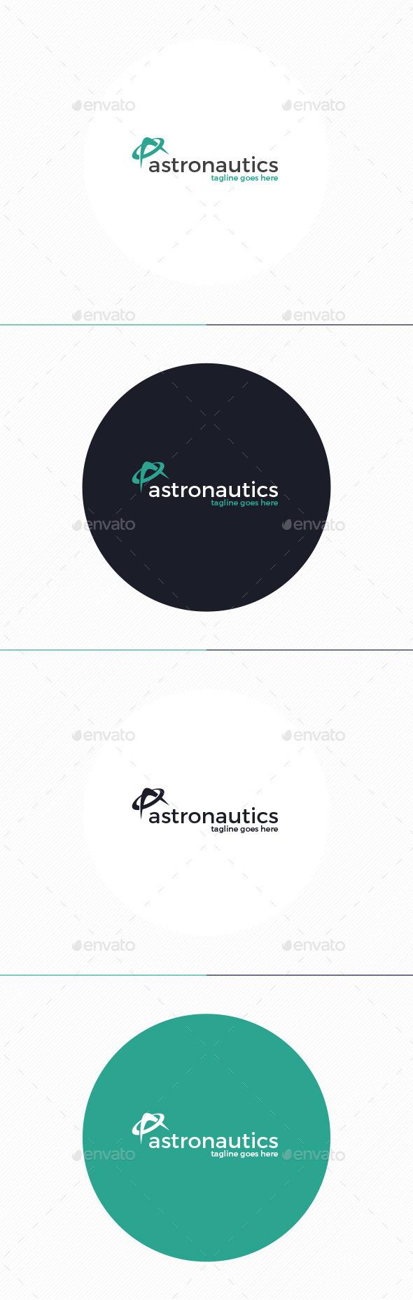 GraphicRiver Astronautics Logo Letter A 10947354