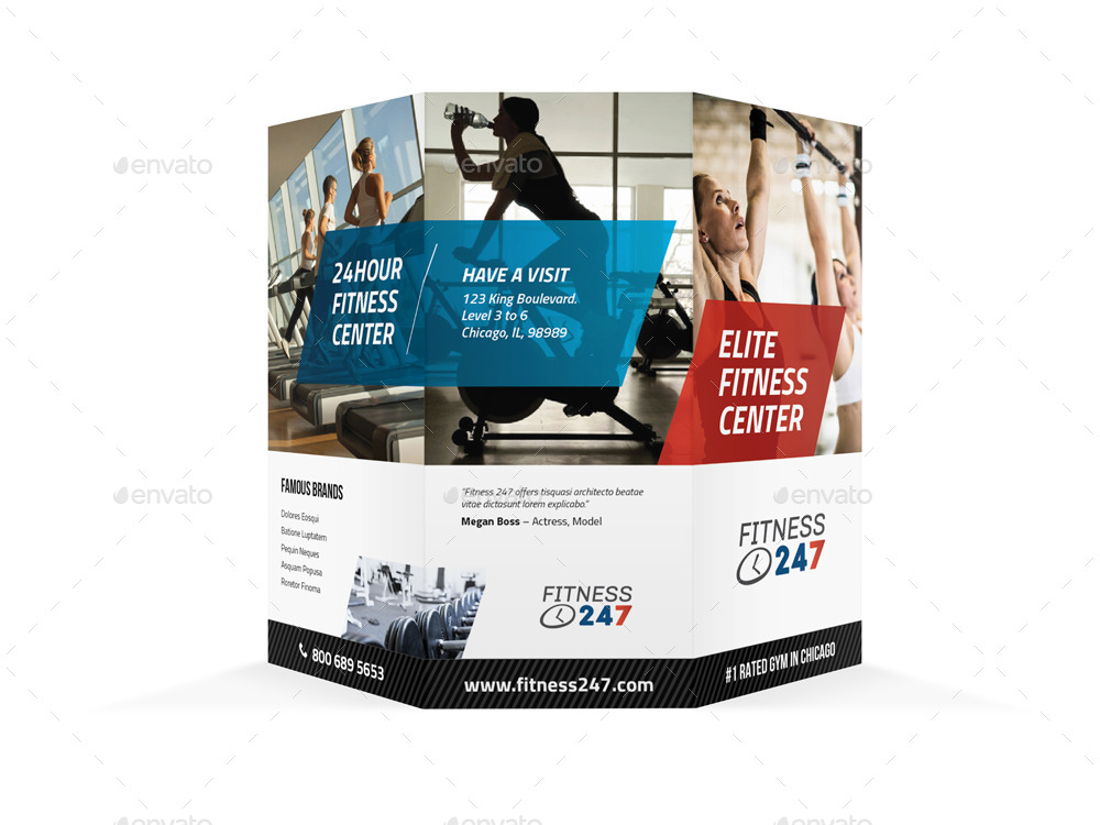Fitness Gym Trifold Brochure by Mikepantone – Gym Brochure