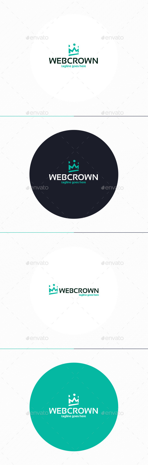 GraphicRiver Web Crown Logo 10947457