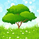 Green Landscape with Tree - GraphicRiver Item for Sale