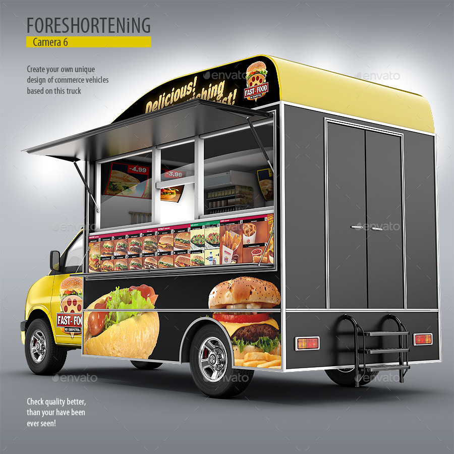 Food Truck Mock Up Van Eatery Mockup By Bennet1890
