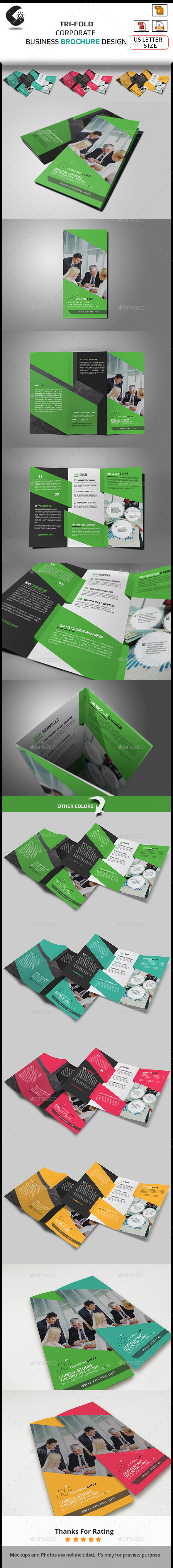 GraphicRiver Tri-Fold Brochure Multipurpose 10947559