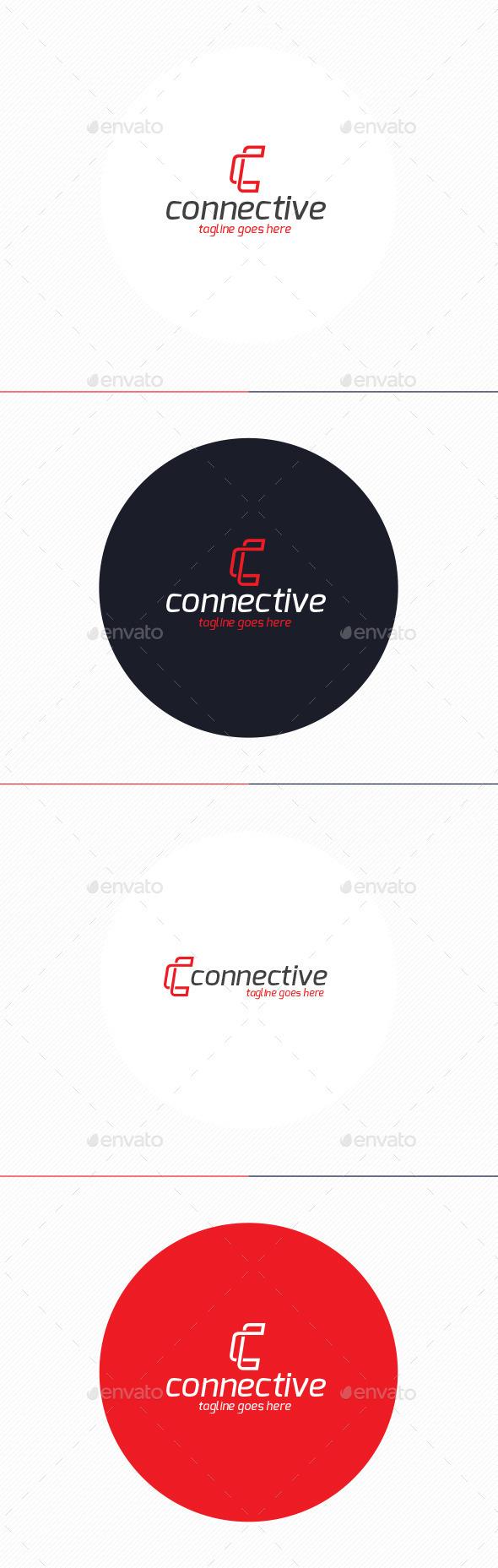 GraphicRiver Connective Logo Letter C 10947570