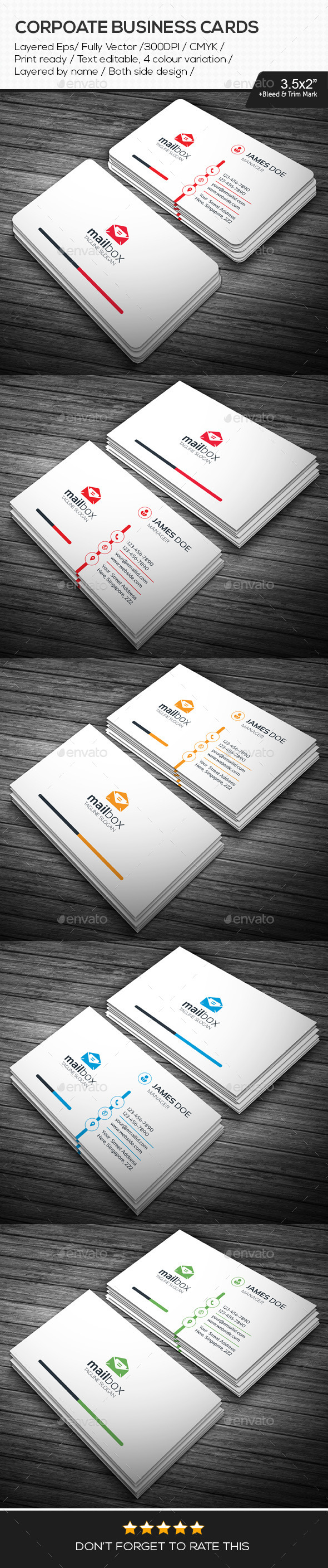 GraphicRiver Mail Box Corporate Business Cards 10947610