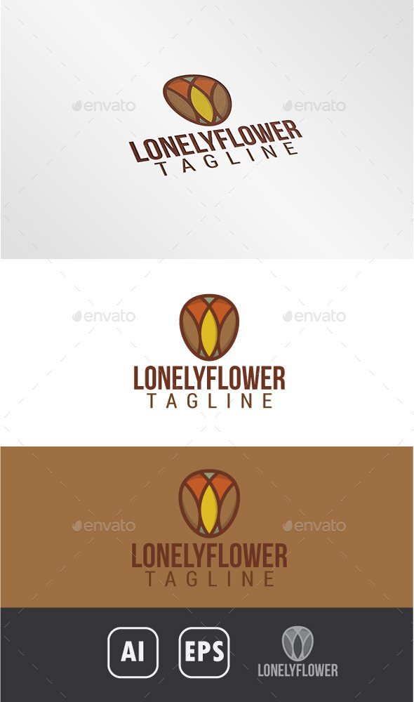 GraphicRiver Lonely Flower Logo 10947755
