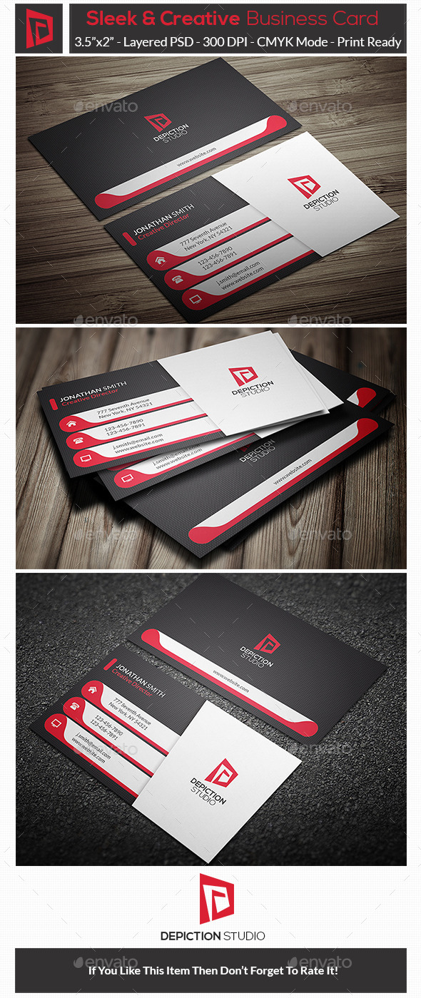 GraphicRiver Sleek & Creative Business Card 10947783