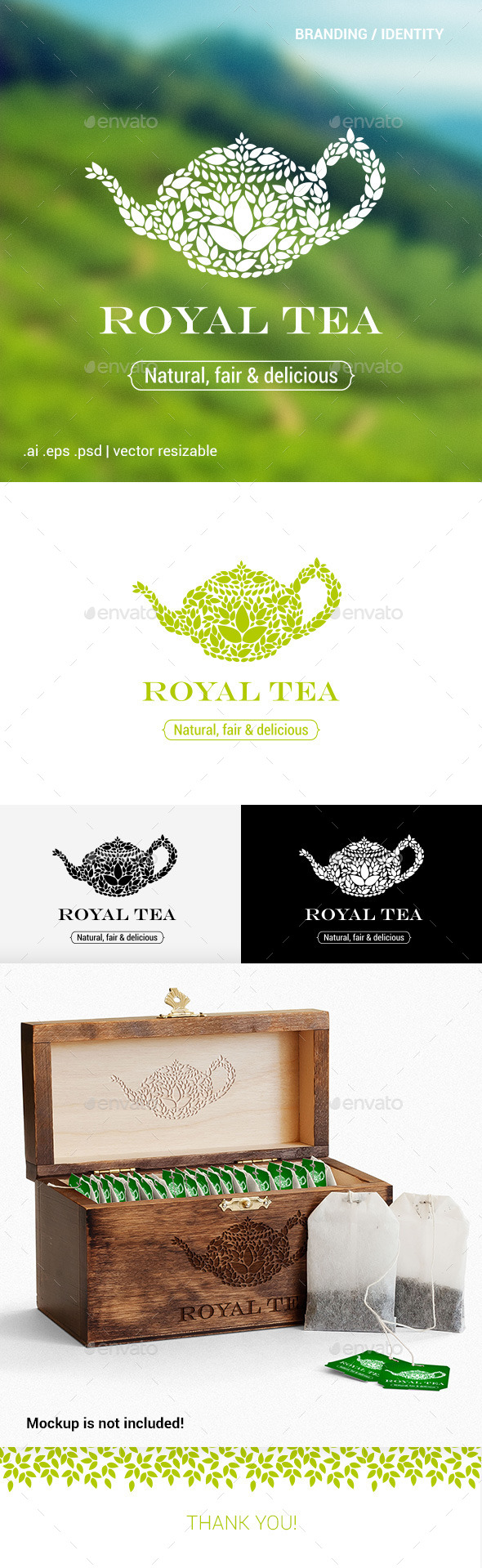 GraphicRiver Royal Tea Logo Template 10903381
