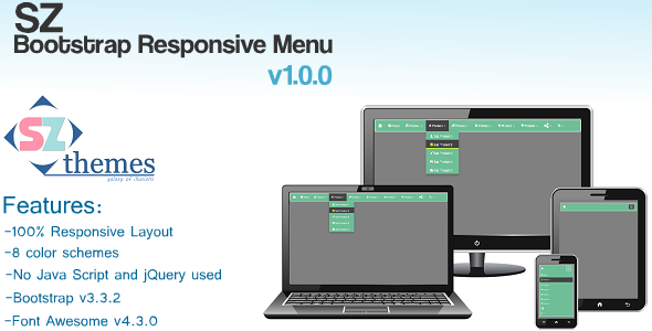 SZ Bootstrap Responsive Menu v1.0.0 - CodeCanyon Item for Sale