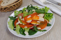 Salad greens with persimmon and almonds - PhotoDune Item for Sale