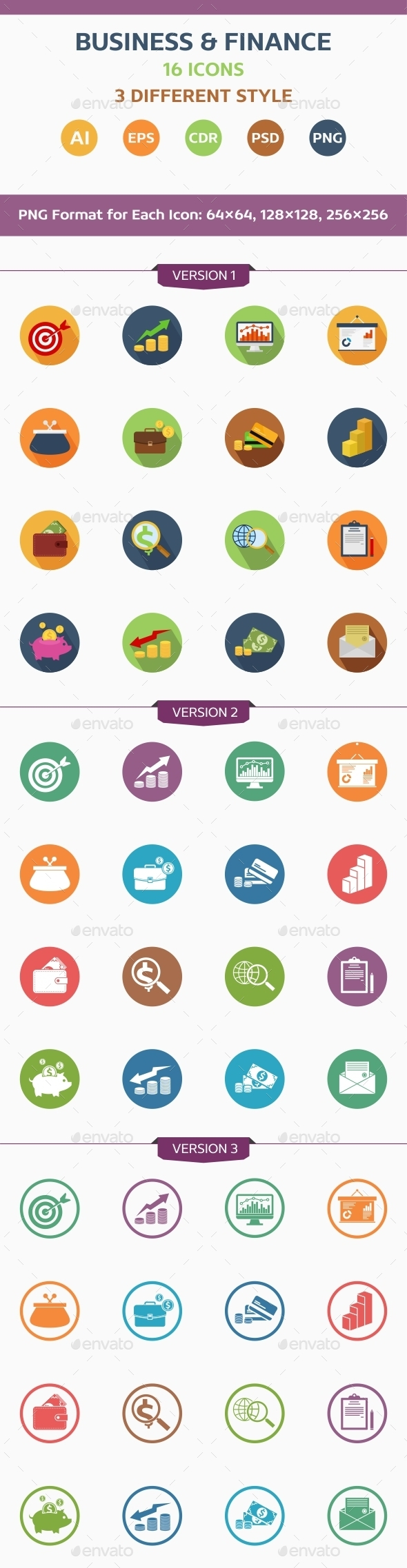 GraphicRiver Business and Finance Icons 10948145