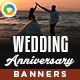 Wedding Anniversary Banners - GraphicRiver Item for Sale