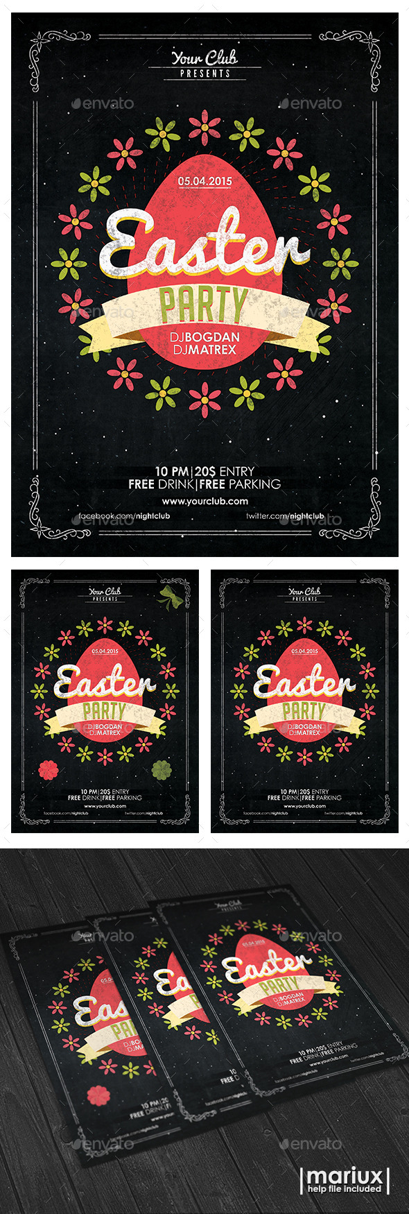 GraphicRiver Easter Party Flyer Poster 10948419