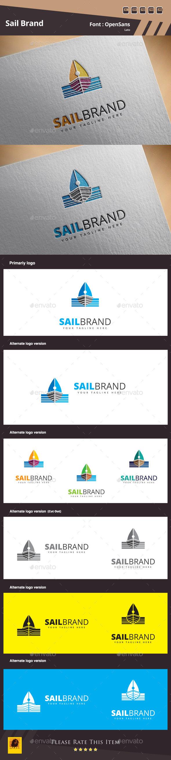 GraphicRiver Sail Brand Logo Template 10948748