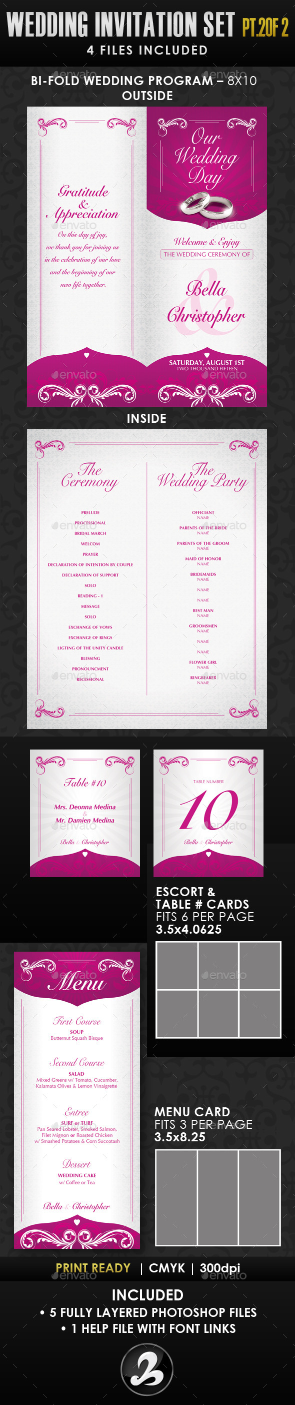 GraphicRiver Wedding Invitation Template Set Vol.1b 10895634