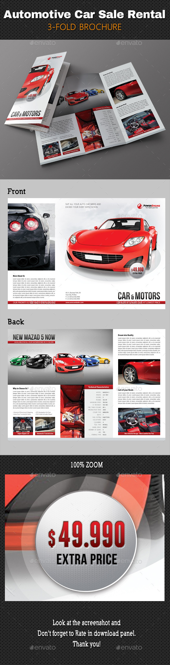 GraphicRiver Automotive Car Sale Rental 3-Fold Brochure 01 10949064